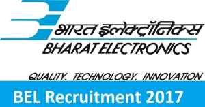 BEL Recruitment 2017 Notification for Civil and Electrical Engineering Apply Now