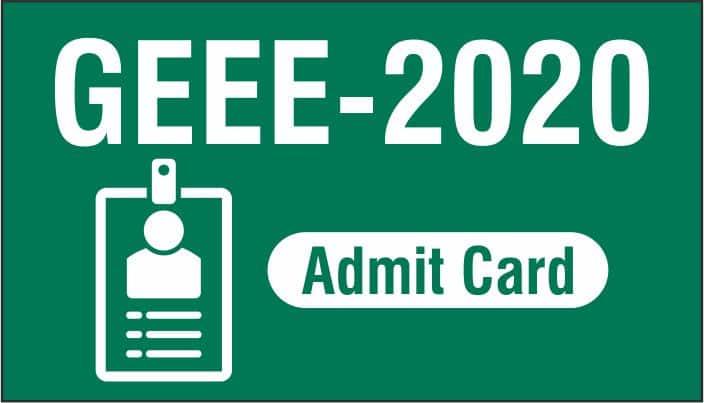 GEEE Admit Card