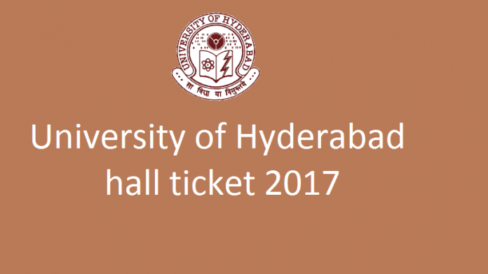 University of Hyderabad Hall ticket 2017 released at uohyd.ac.in